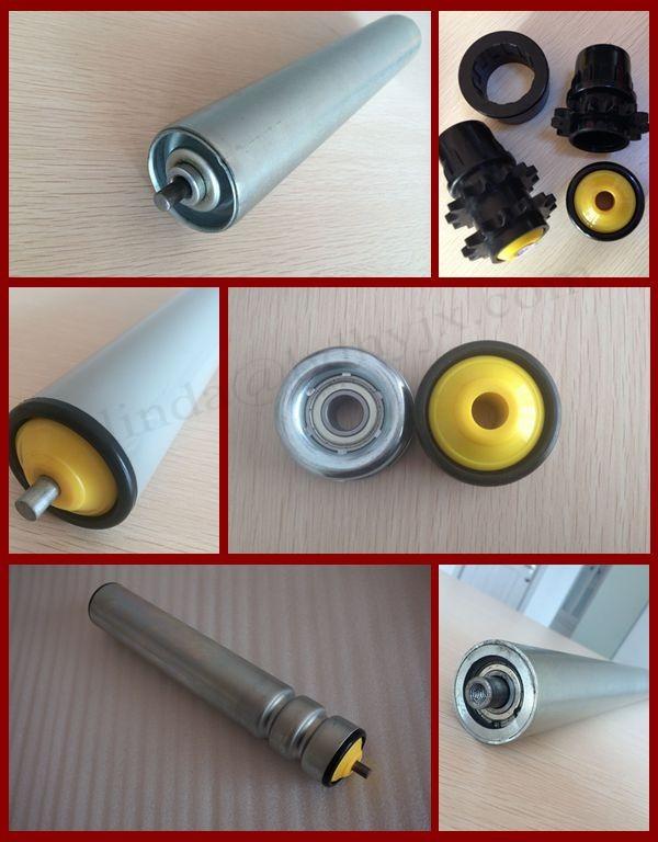 zinc plated steel gravity roller