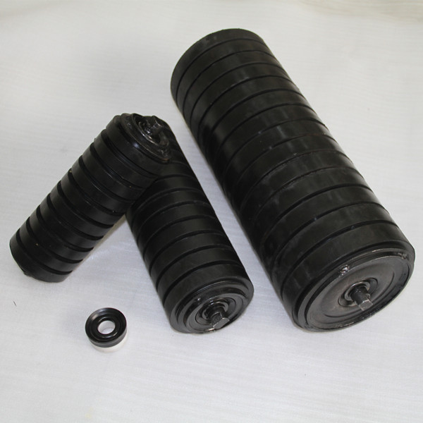 coal mining equipment used rubber ring impact idler roller