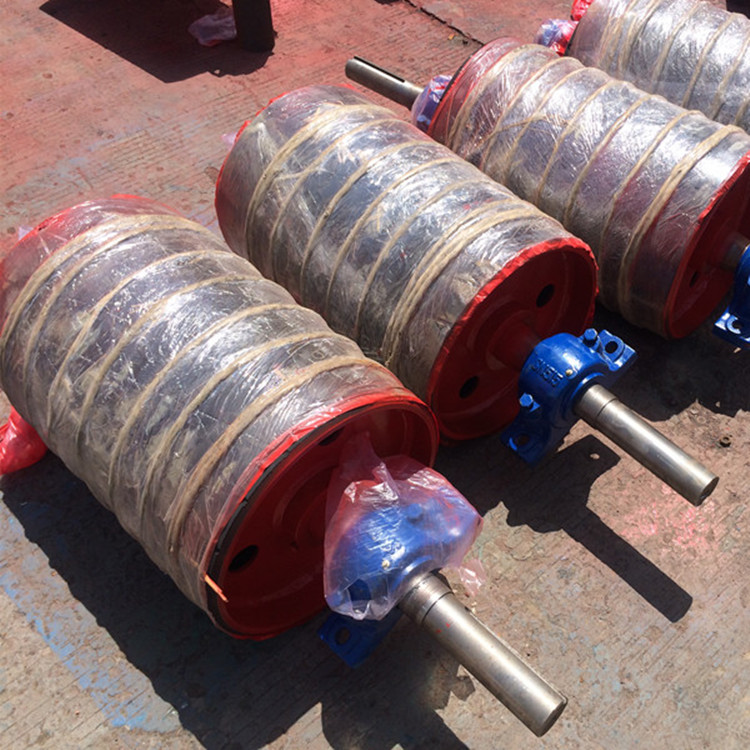 630mm diameter rubber coated belt conveyor head pulleys