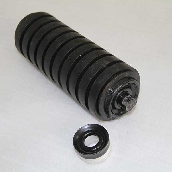 handling equipment used rubber coated buffer supporting idler